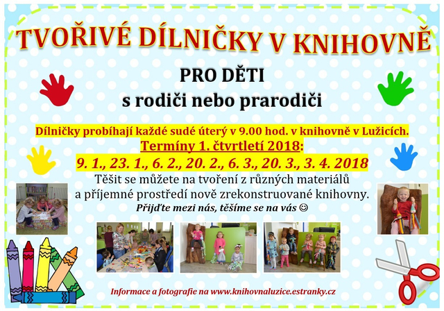 Knihovna - Tvořivé dílničky 1. pol. 2018