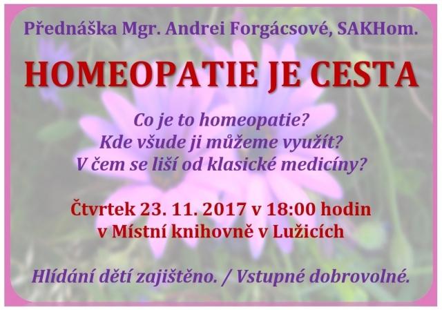 Přednáška homeopatie v místní knihovně