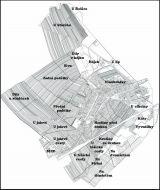 Mapa - katastr obce Lužice