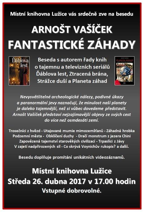 Místní knihovna Lužice - přednáška Arnošta Vašíčka