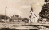 Pohled na kostel - asi r. 1932