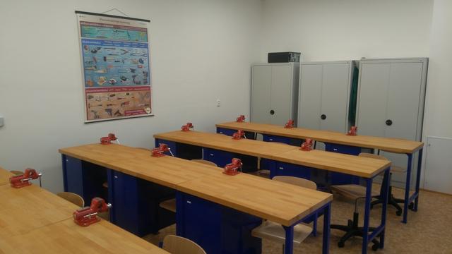 Stavební úpravy školní dílny ZŠ Lužice