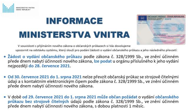 Informace k plánované odstávce OP a CD - letáky