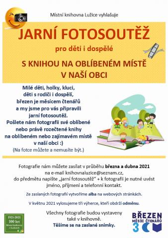 Místní knihovna Lužice - Březen měsíc čtenářů - výtvarná soutěž a fotosoutěž