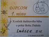 XI. ROČNÍK ŠTAFETOVÉHO BĚHU O POHÁR BOBA ZHÁŇALA 24. 10. 2008