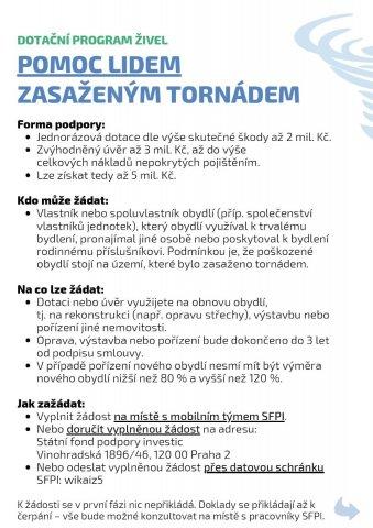 MMR - Pomoc lidem zasaženým tornádem