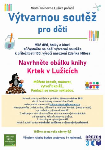 Místní knihovna Lužice - Březen měsíc čtenářů - soutěže