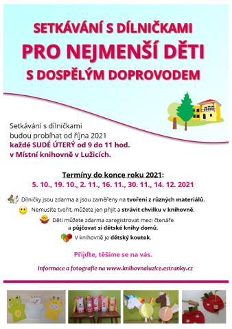 Místní knihovna Lužice - setkávání s dílničkami pro nejmenší