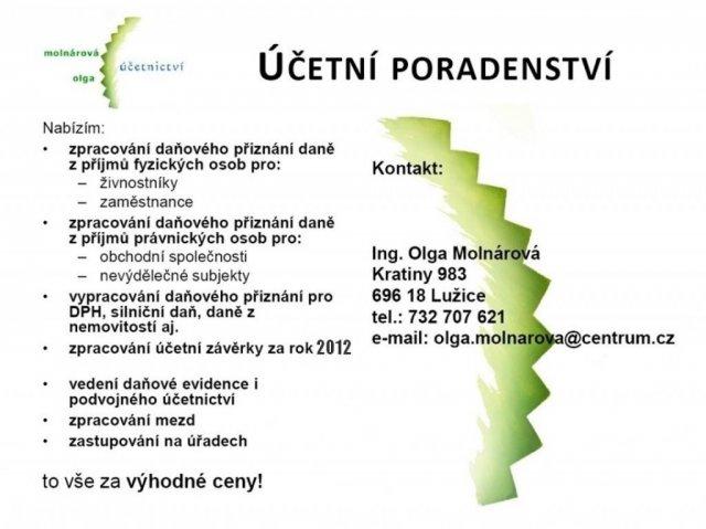 Účetní poradenství - Olga Molnárová