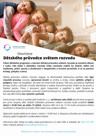 Skupina Dětský průvodce světem rozvodu