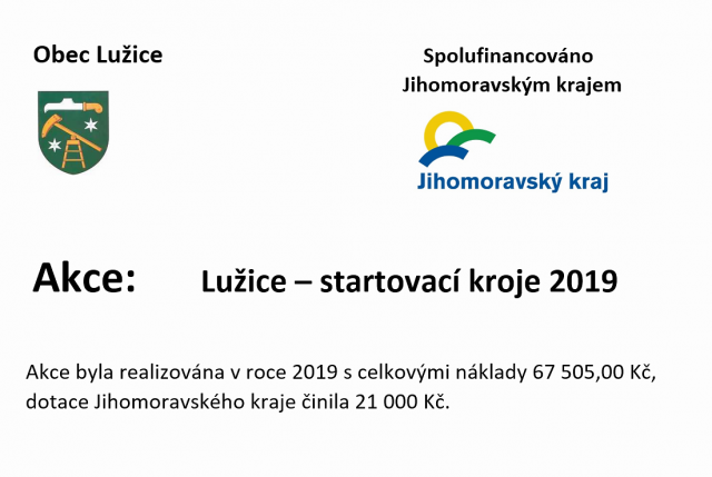 Startovací kroje 2019