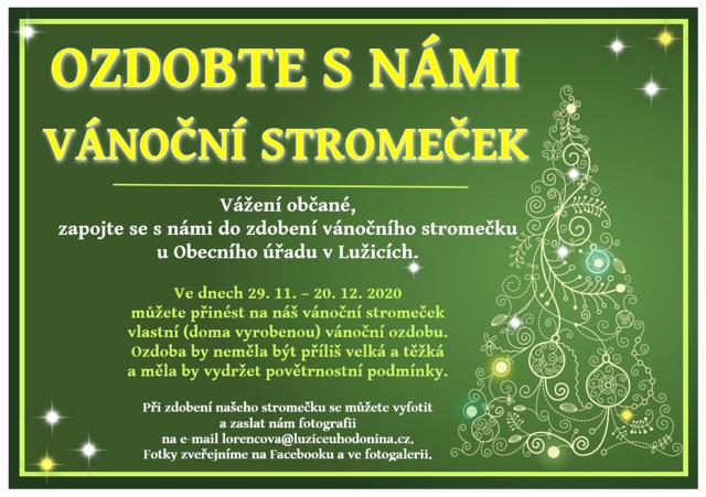 Ozdobte s námi vánoční stromeček