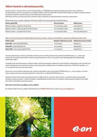 E.ON - Žádost o odstranění dřevin ohrožujících bezpečný a spolehlivý provoz elektrického distribučního zařízení